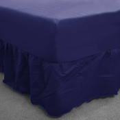 Royal Blue Polycotton Fitted Valance (150 Thread Count)