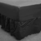 Black Percale Fitted Valance (180 Thread Count)