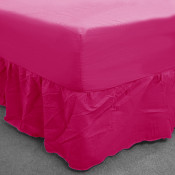 Cerise Percale Fitted Valance (180 Thread Count)