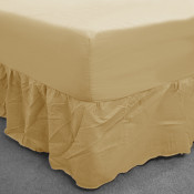 Cream Percale Fitted Valance (180 Thread Count)