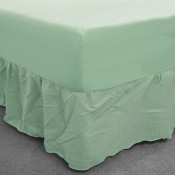 Mint Percale Fitted Valance (180 Thread Count)