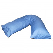 V-Shaped Sky Blue Pregnancy Orthopaedic Pillow Cases