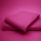 Polycotton Percale Cerise Housewife Pillow Cases( 180 Thread Count)