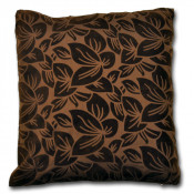 Wyoming Faux Silk Chocolate Cushion Cover