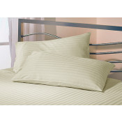 Satin Stripe Cream Polyester Pillow Case