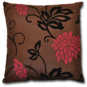California  Floral Cerise Filled Cushions