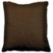 Maria Plain Faux Silk Chocolate Filled Cushion