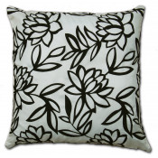 Sarah Faux Silk Ivory Cushion Cover