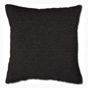Black Chenille Polyester Made Cushion Cover