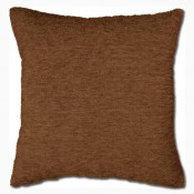 Brown Chenille Polyester Made Cushion Cover