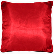 Jasmine Faux Silk Red Cushion Cover