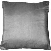 Jasmine Faux Silk Silver Cushion Cover