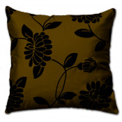 Alison Faux Silk Brown Cushion Cover