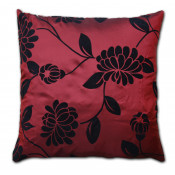 Alison Faux Silk Wine Cushion Cover