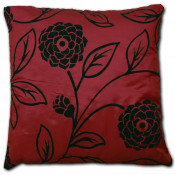 Charlotte Faux Silk Wine Cushion Cover