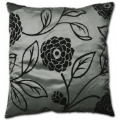 Charlotte Faux Silk Silver Cushion Cover