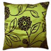 Charlotte Faux Silk Green Cushion Cover