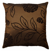 Charlotte Faux Silk Brown Cushion Cover