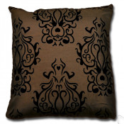 Idaho Faux Silk Chocolate  Cushion Cover