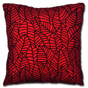 Nevada  Faux Silk Red Cushion Cover