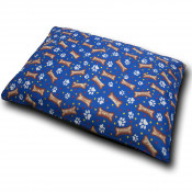 Paws & Bones Blue Dog Bed