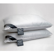 Satin Strip Hollow Fibre Bounce Back Pair Of Pillows