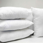 Cambric Cotton cased Microfibre Cushion Pads by Bedding Mill