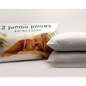 Super Soft Jumbo Pair Of Extra Filled Hollow Fibre Pillows
