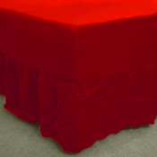 Red Percale Fitted Valance (180 Thread Count)