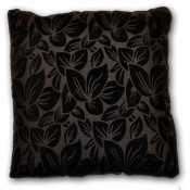 Wyoming Faux Silk Black Cushion Cover