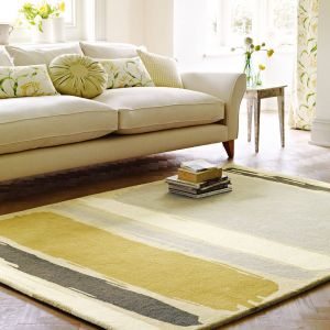 Sanderson Abstract Rugs 45401 in Linden Silver