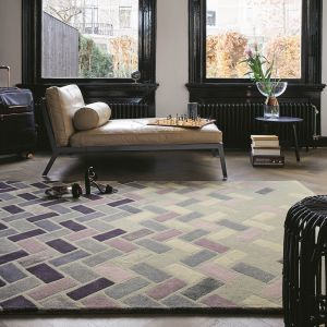 Agave Ash Wool Rugs 57104 by Ted Baker in Grey