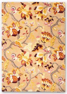 Amanpuri Leaf Wool Rugs By Sanderson in Russet Brown