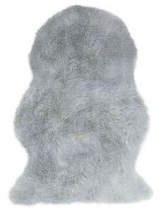 Auckland Luxury Faux Fur Sheepskins in Silver
