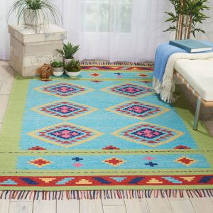 Baja Rugs BAJ02 in Grey and Red by Nourison