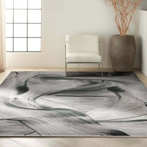 Calvin Klein Balian Rugs CK53 in Grey Black