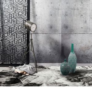Blaze BLZ03 Abstract Marble Rugs in Silver Grey