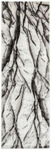 Blaze BLZ04 Abstract Marble Runner Rugs in Silver Grey