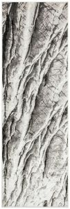 Blaze BLZ05 Abstract Marble Runner Rug in Silver Grey