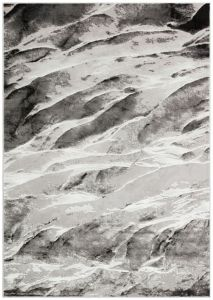 Blaze BLZ06 Abstract Marble Rugs in Silver Grey
