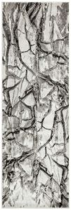 Blaze BLZ07 Abstract Marble Runner Rugs in Silver Grey