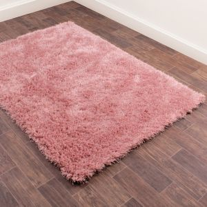 Boston Shaggy Rugs in Blush Pink