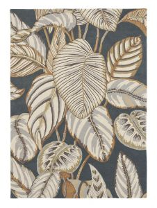 Calathea Rugs 50805 in Charcoal by Sanderson