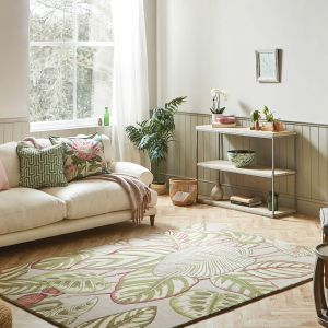 Calathea Rugs 50807 in Olive by Sanderson