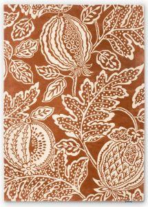 Cantaloupe Fruit Wool Rugs By Sanderson in Burnt Orange