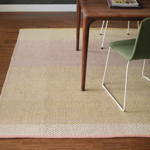 Check Wool Rugs 564002 by Ted Baker in Neutral