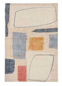 Composition Contemporary Wool Rugs by Scion in 023701 Amber