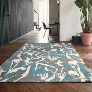 Cranes Rugs 57008 by Ted Baker in Petrol