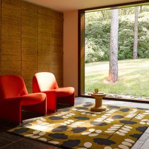Cut Stem Wool Rugs 060806 in Dijon By Designer Orla Kiely