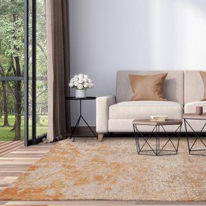 Dara Abstract Indoor Outdoor Rugs in Terracotta Orange